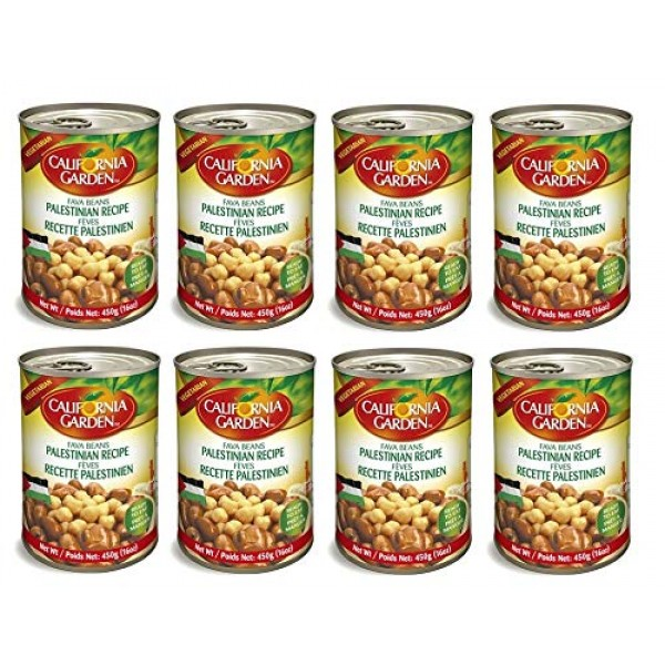 California Garden Fava Beans with Chickpeas Palestinian Recipe 8...