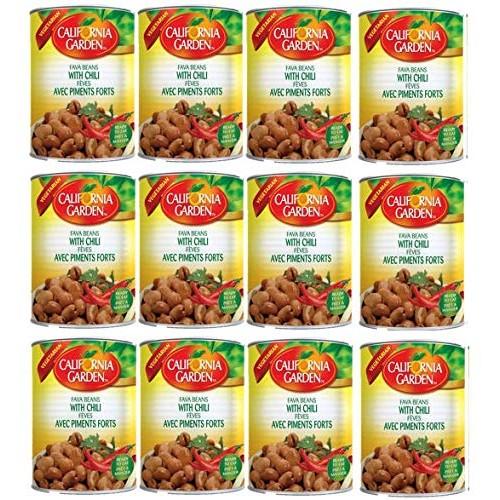 California Garden Premium Kosher Fava Beans with Chili 12 Cans 1...