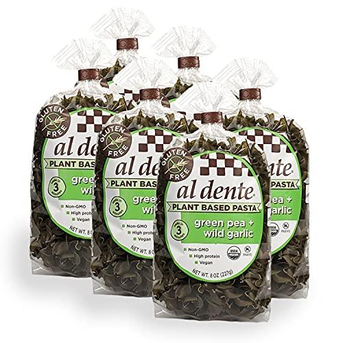 Al Dente Plant Based Pasta Green Pea + Wild Garlic, 8 Ounce Pac...
