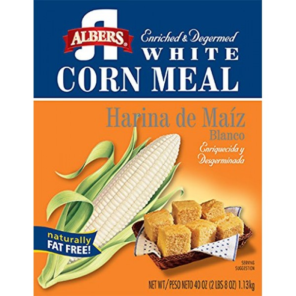 Albers White Corn Meal 40oz, 1-pack