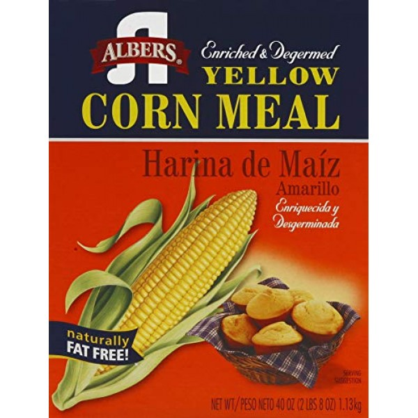 Albers Yellow Corn Meal, 40-Ounce Boxes Pack of 2