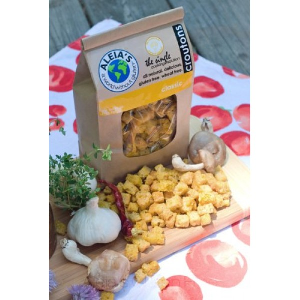Aleias Gluten Free Foods Classic Croutons 12-ounce 2 Pack