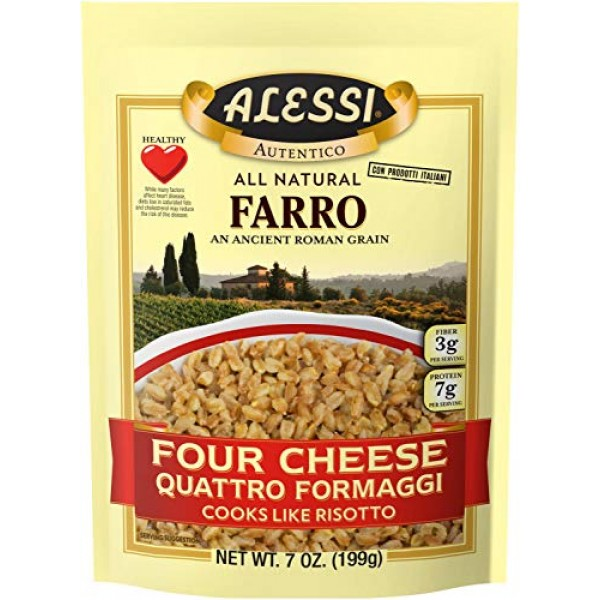 Alessi Four Cheese Farro, 7 Ounce 6 Pack