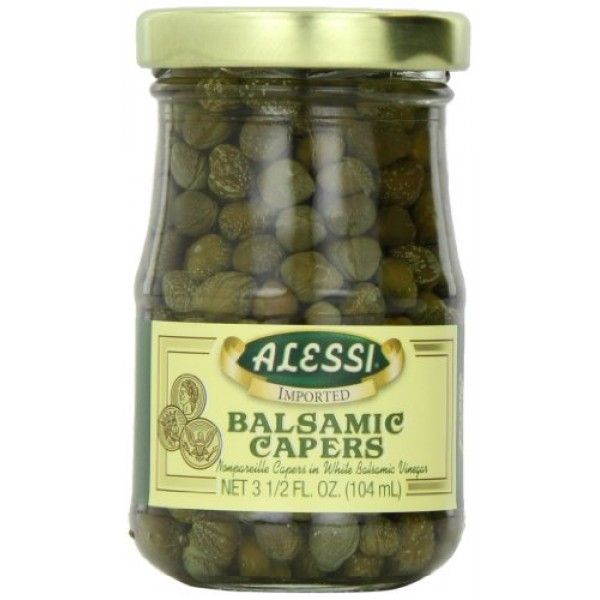 Alessi Capers in Wht Balsm Vngr, 3.50-Ounce Pack of 6