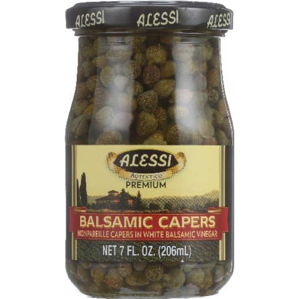 Alessi Capers in Wht Balsm Vngr, 7-Ounce Pack of 3