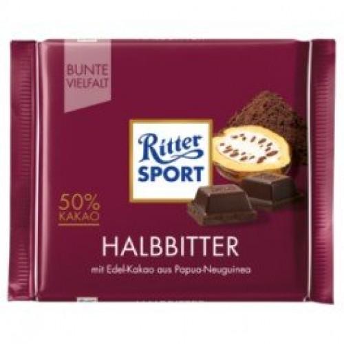 RitterSport Halbbitter 50% Kakao 100g
