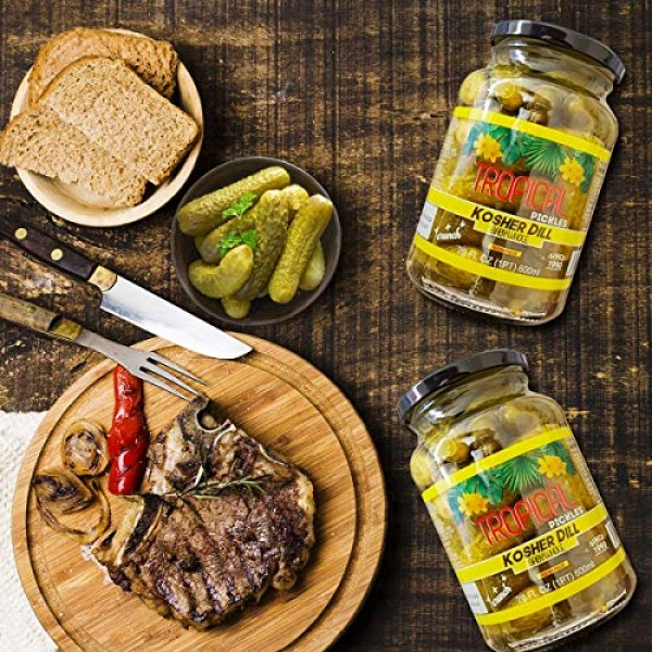 Alimentec Tropical Kosher Dill Baby Whole Pickles, Keto Friendly...