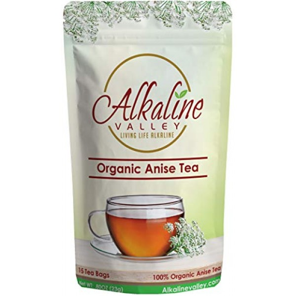 Anise Tea - 100% Organic and Alkaline - 15 Unbleached/Chemical-F...