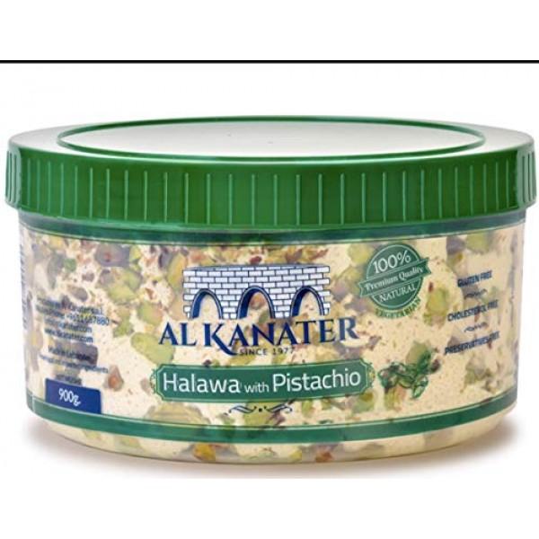 Alkanater Halawa, Sesame Candy Pistachio, 2 LB pack of 2