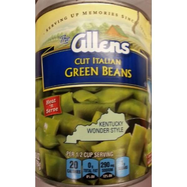 Allens Cut Italian Green Beans Kentucky Wonder Style 28 Ounce P...