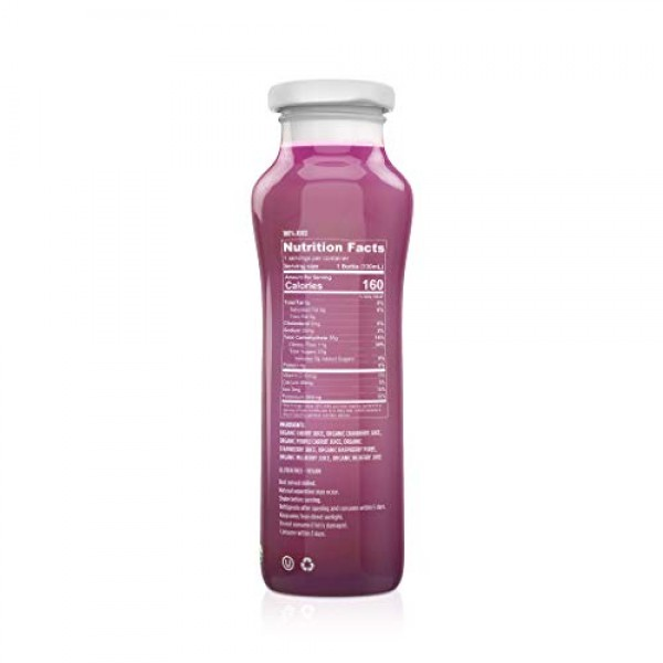 ALLWELLO Organic Cold Pressed Juice Drinks with Real Fruits and ...