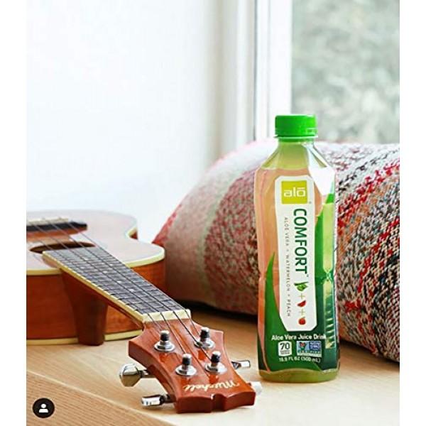 ALO Comfort Aloe Vera Juice Drink, Watermelon + Peach, Pack of ...