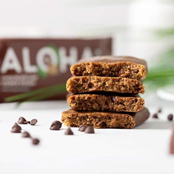 ALOHA Organic Plant Based Protein Bars  Chocolate Chip Cookie Do...