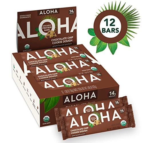 ALOHA Organic Plant Based Protein Bars |Chocolate Chip Cookie Do...