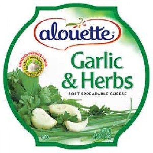 ALOUETTE CHEESE SOFT SPREADABLE GARLIC & HERB 6.5 OZ PACK OF 3