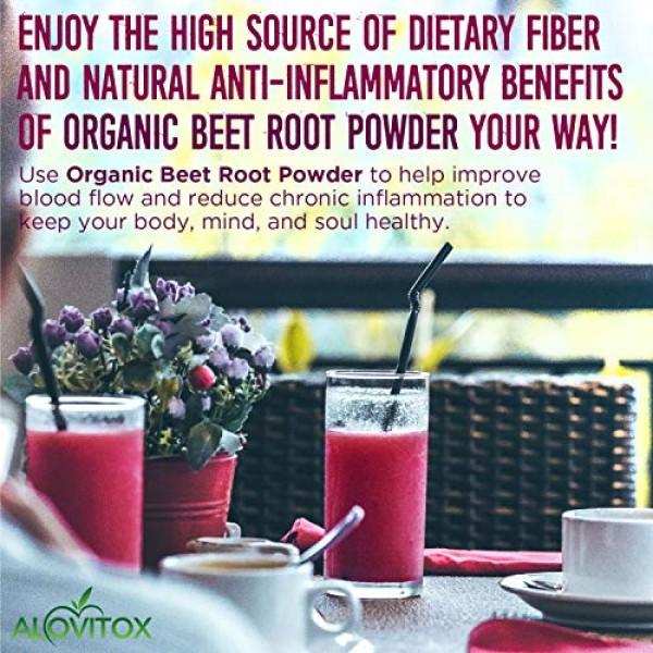 Alovitox Organic Beet Root Powder 16 oz Raw Vegan & Gluten Free ...