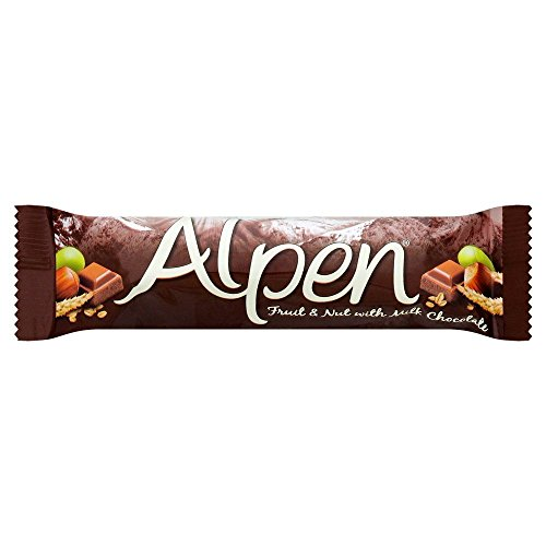 Alpen Fruit & Nut With Milk Chocolate Cereal Bar - 29g - Pack of...