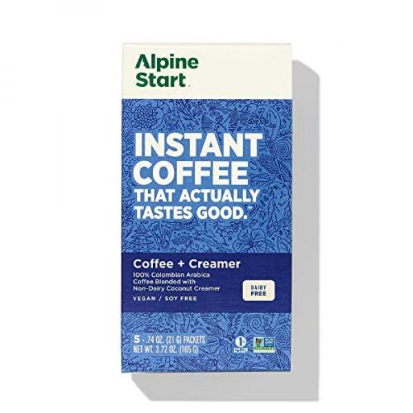 Alpine Start Premium Instant Coffee, Non-Dairy Coconut Creamer L...