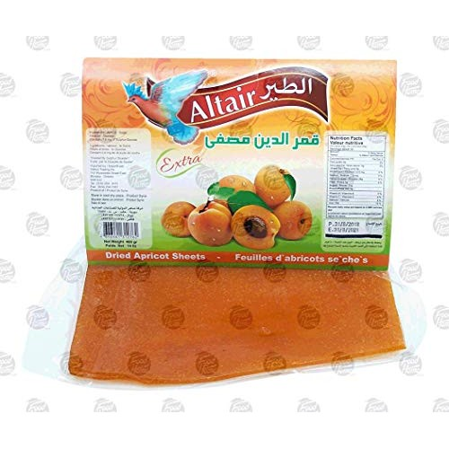 Altair dried apricot sheet in wrapper, 400-gram Pack of 1