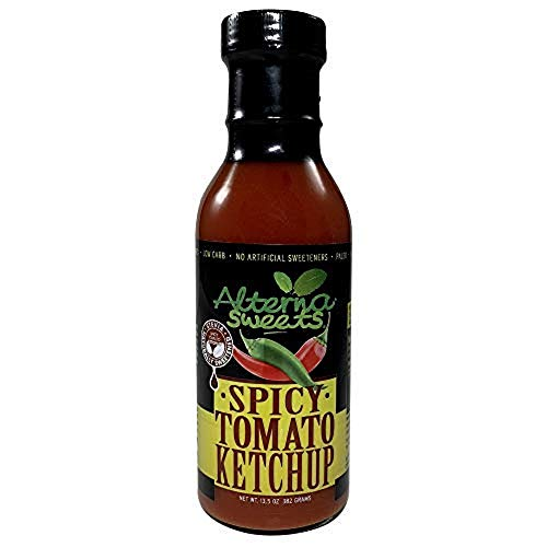 AlternaSweets Spicy Ketchup - 13.5 oz - Stevia Sweetened - Class...