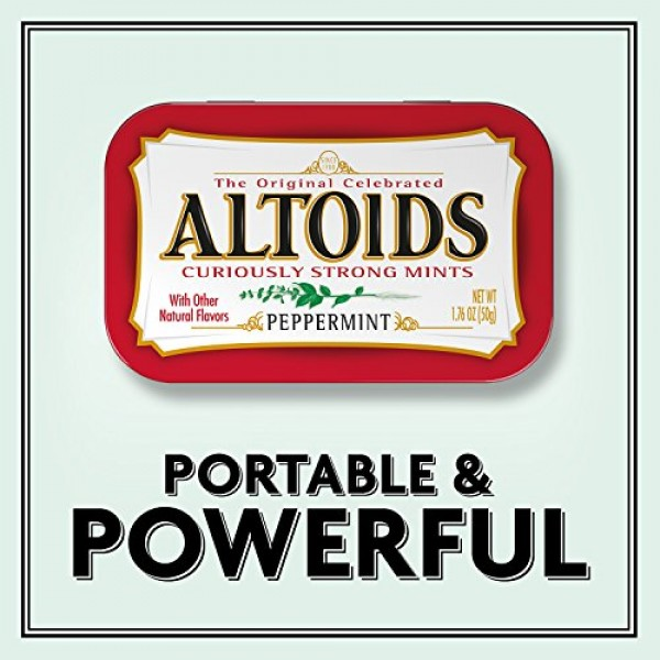 Altoids Classic Peppermint Breath Mints Singles Size 1.76-Ounce ...
