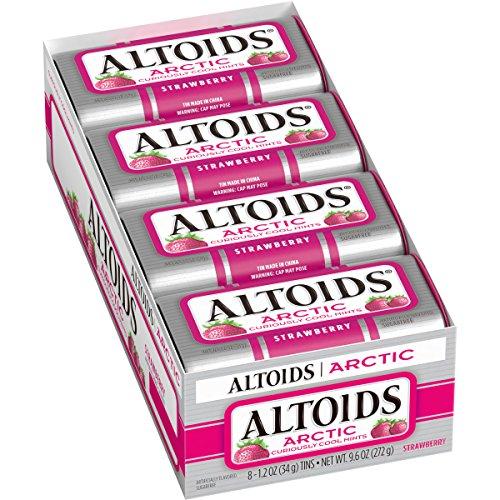 Altoids Arctic Strawberry Mints, 1.2 Ounce 8 Packs