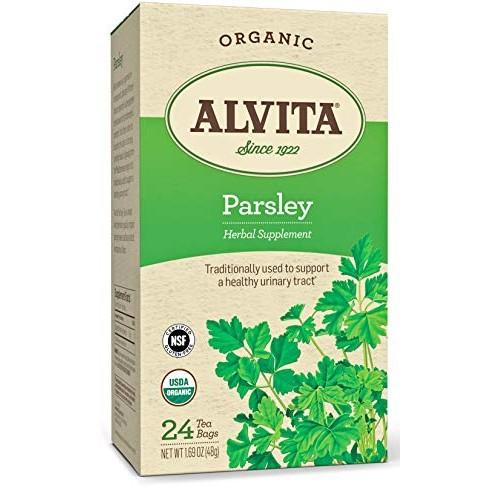 Alvita Teas Organic Herbal Tea Bags, Parsley, 24 Count