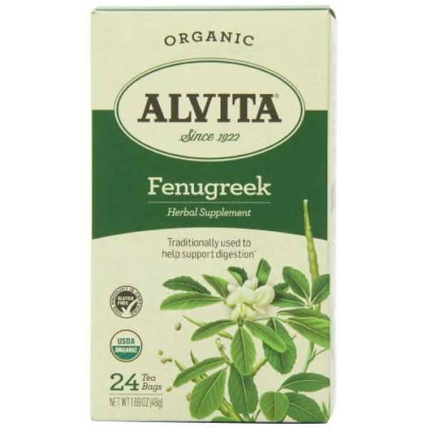Alvita Alvita fenugreek seed tea bag organicfenugreek, 1.7 Ounce