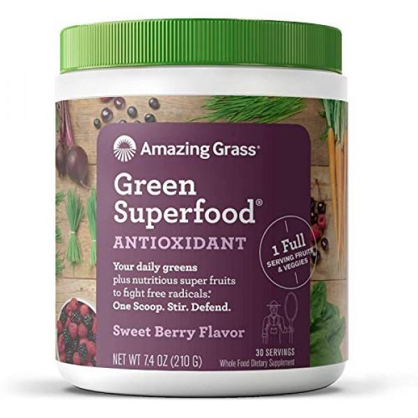 Amazing Grass Green Superfood Antioxidant: Super Greens Powder w...