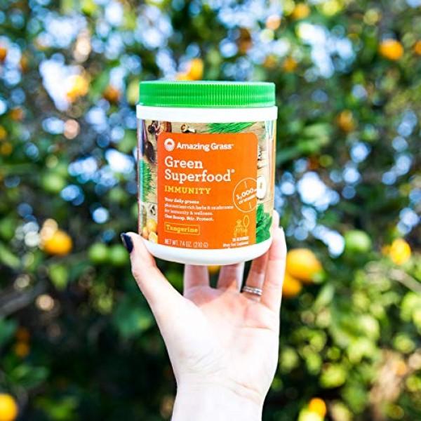 Amazing Grass Green Superfood Immunity: Super Greens Powder with...