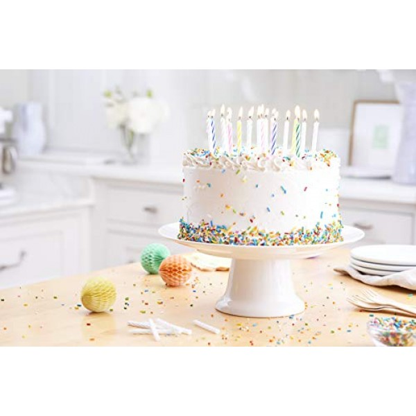 American Greetings Party Supplies, White Spiral Birthday Candles...
