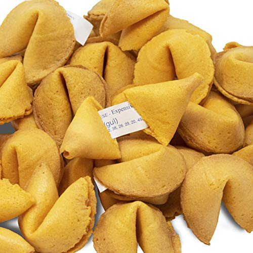 50 Individually Wrapped Fortune Cookies- Bulk Order of Tasty Fre...