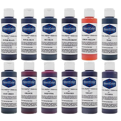 AmeriColor 12 Color Variety - Kit, Soft Gel Paste Food Coloring,...