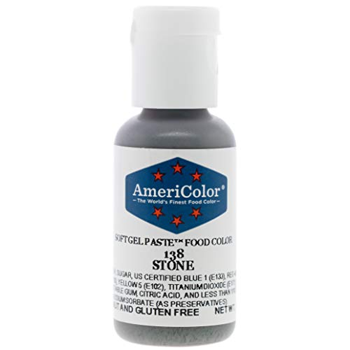 Food Coloring AmeriColor Stone Soft Gel Paste .75 Ounce