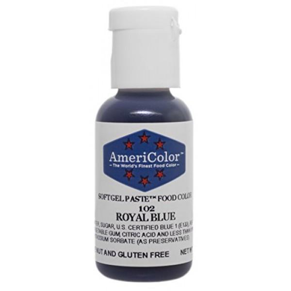 Americolor Soft Gel Paste Food Color, Royal Blue