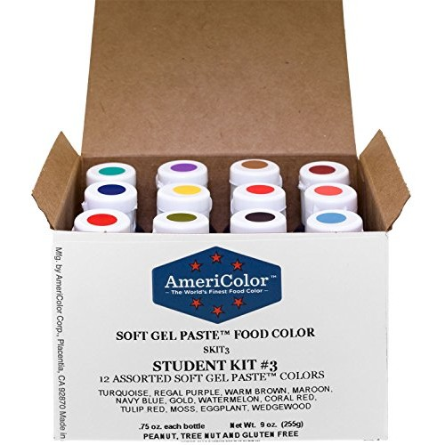 Food Coloring AmeriColor Student - Kit 3 12 .75 Ounce Bottles So...