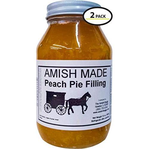 Amish Pie Filling Peach - TWO 32 Oz Jars