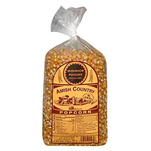 Amish Country Popcorn - 2 Lb Mushroom Kernels - Old Fashioned, N...