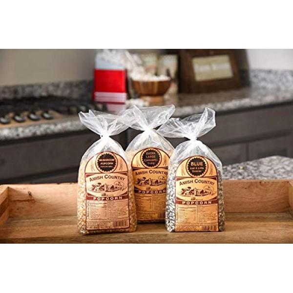 Amish Country Popcorn - 3 2 Lb Bags Gift Set: Mushroom, Extra ...