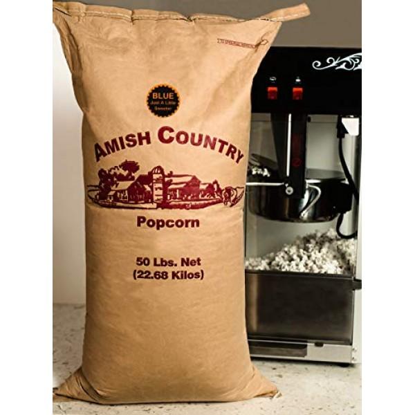 Amish Country Popcorn - 50 Lb Bag Blue Kernels - Old Fashioned, ...