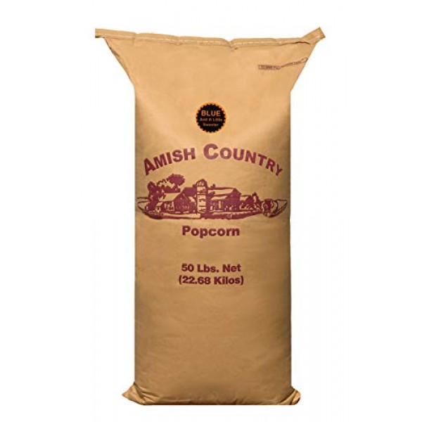 Amish Country Popcorn - 50 Lb Bag Blue Kernels - Old Fashioned, ...
