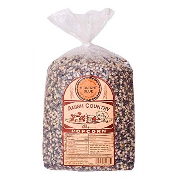 Amish Country Popcorn | 6 lb Bag | Midnight Blue Popcorn Kernels...