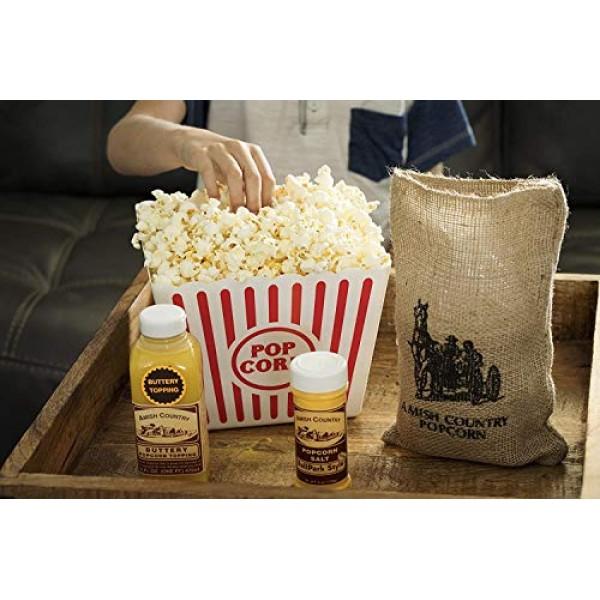Amish Country Popcorn - 6 Lb Burlap Gift Set, 3 2 Pound Bags M...