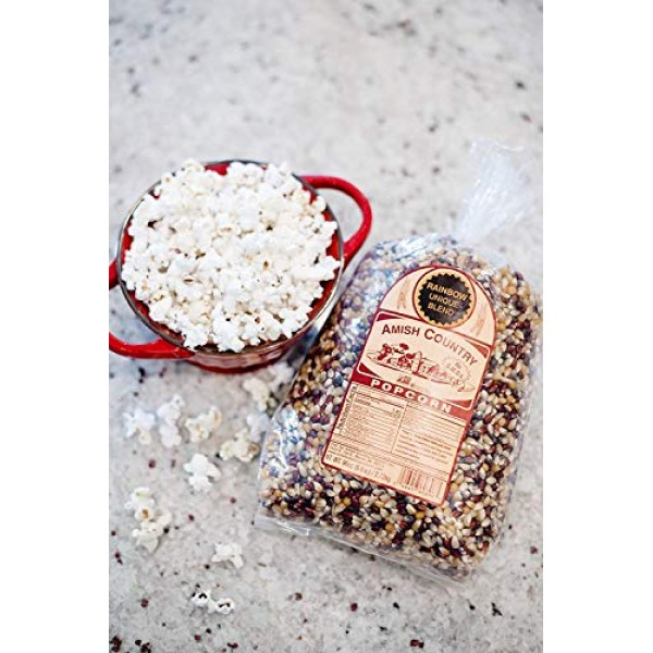 Amish Country Popcorn - 6 Lb Rainbow Kernels - Old Fashioned, No...