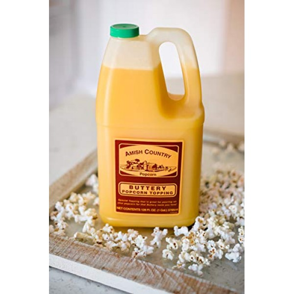 Amish Country Popcorn   Buttery Popcorn Topping - 1 Gallon   Old...