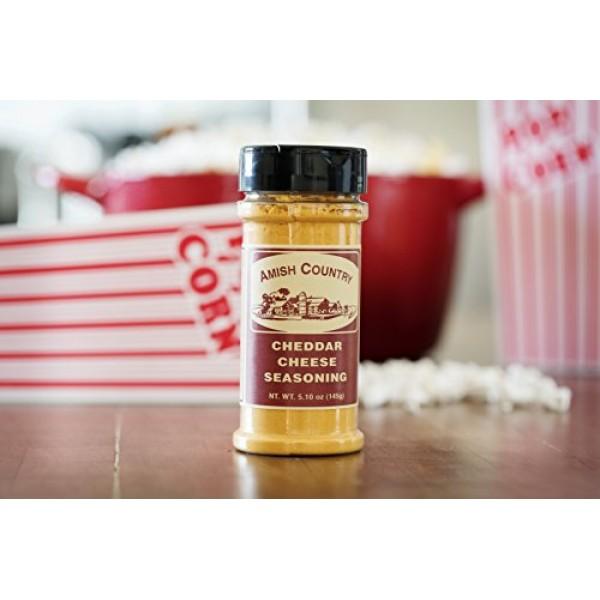 Amish Country Popcorn - Cheddar Cheese Popcorn Seasoning 5.1 Oz...