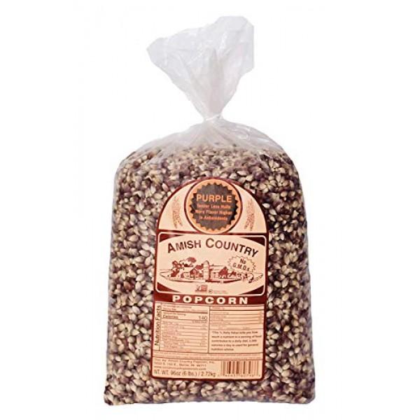 Amish Country Popcorn - Old Fashioned Purple Popcorn - Non GMO, ...