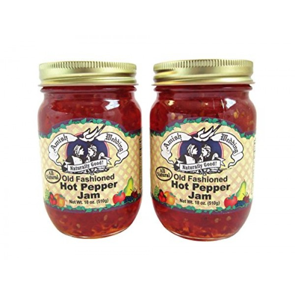 Amish Wedding Foods Old Fashioned Hot Pepper Jam All Natural 2 -...