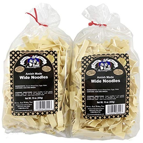 Amish Wedding Foods Wide Noodles 16 Ounce Bags No Preservatives ...