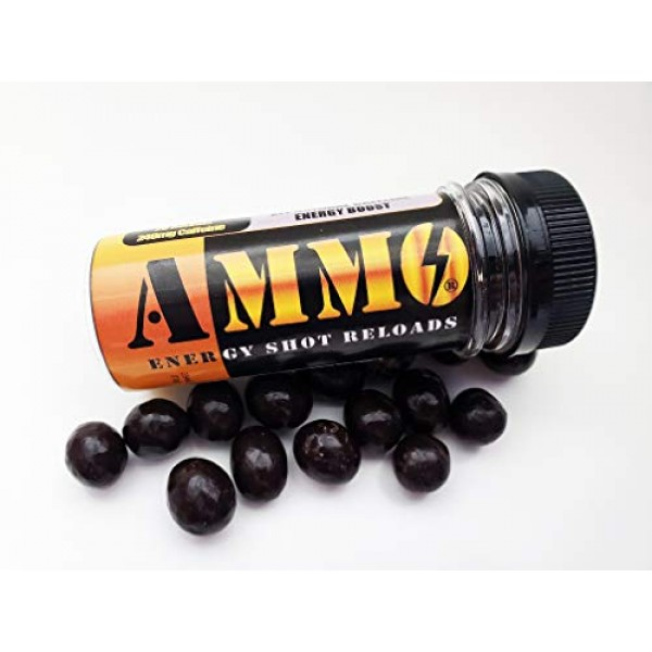 AMMO Natural Energy Chocolate Coffee Rounds Caffeinated Shot Rel...